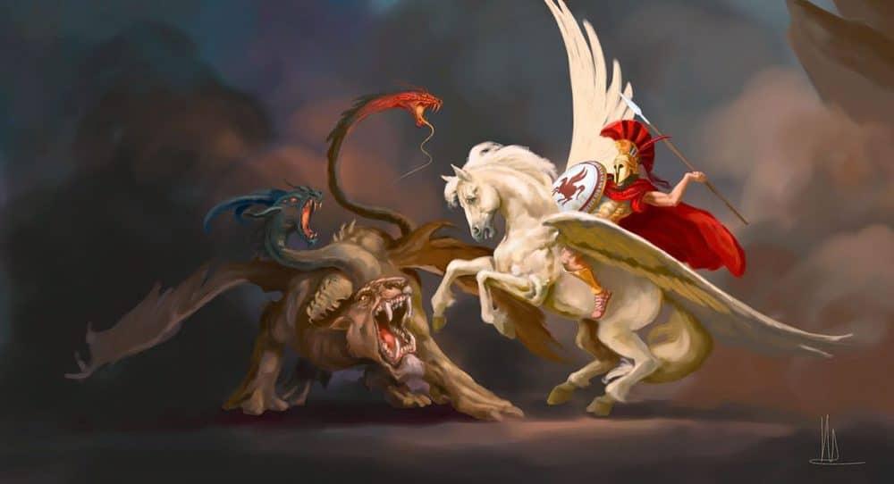 Quimera luta contra Pegasus